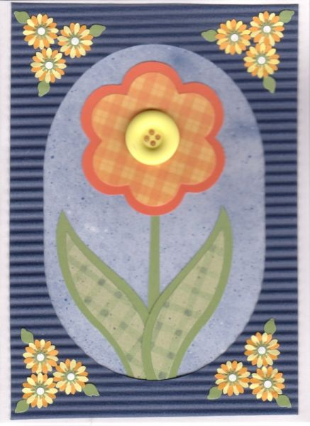 Cheery Orange Paper Pieced Flower