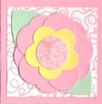 Pink flower gift card