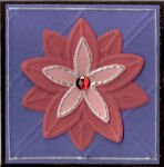 Pink and Red Embossed Flower