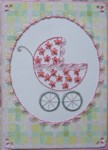 Embroidered Baby Carriage