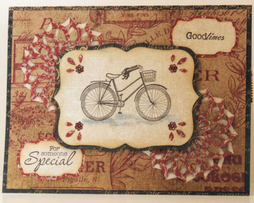 Bicycle Cut and Fold Card