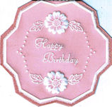 Parchment Birthday Card with Flowers