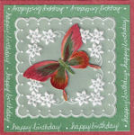 Butterfly and Parchment Birthday Card