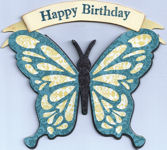 Butterfly Birthday with Banner