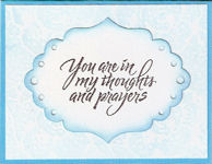 Thoughts and Prayers Blue Sympathy Card