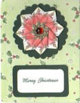 Christmas Candles Tea Bag Fold Card